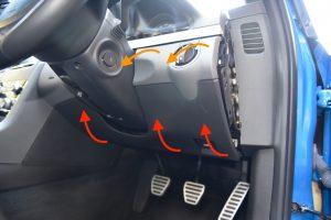 Steering Wheel Lower Dash Trim Removal