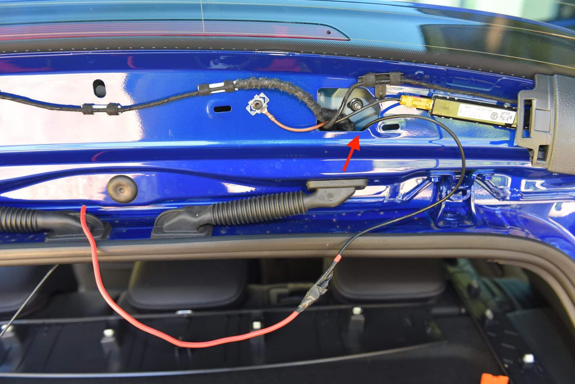 MK7 Golf Dash Cam Install Blackvue DR650