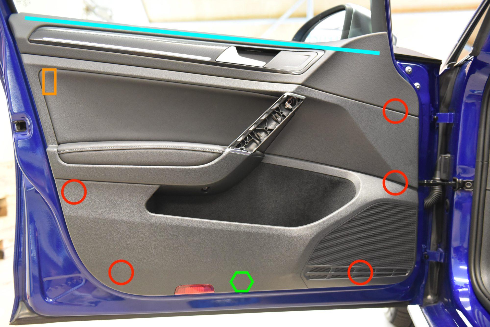 MK7 Golf Front Door Trim Card Removal