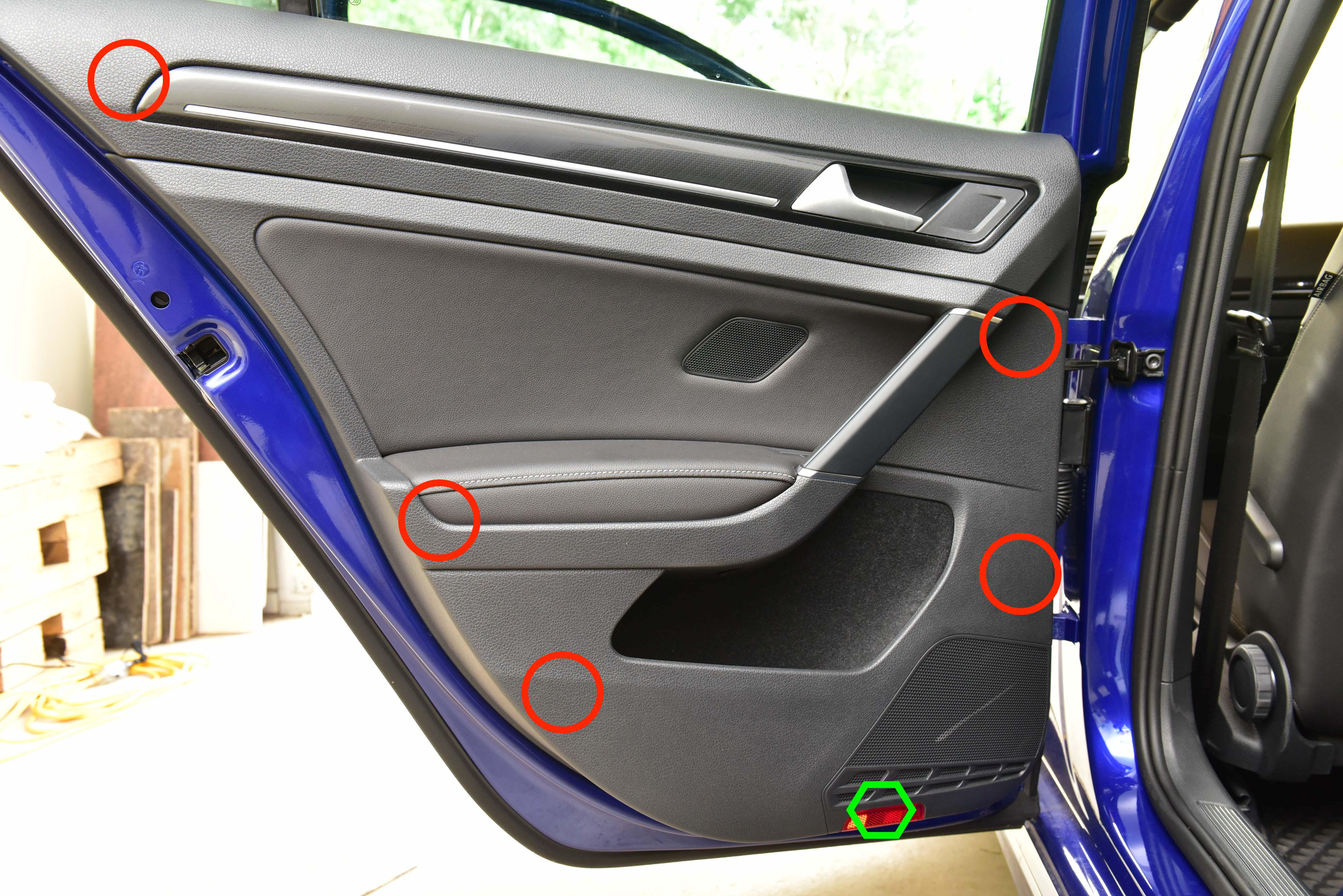 Rear Door Trim Removal Volkswagen Mk7 Golf Autoinstruct