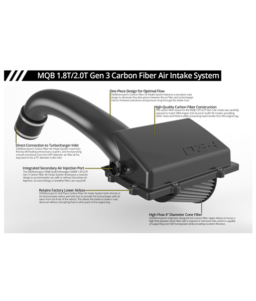 034 Motorsport MQB Cold Air Intake