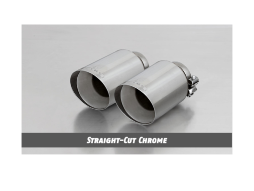 Remus Exhaust Tip - Angled Straight-Cut Chrome