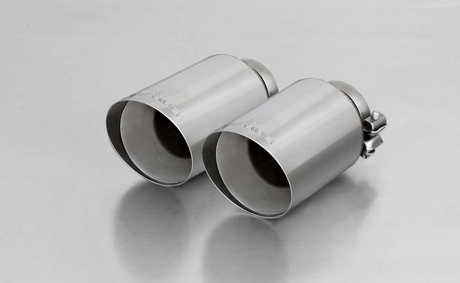 Remus Exhaust Tip - VW Mk7 Golf R - Straight-Cut Angled Chrome
