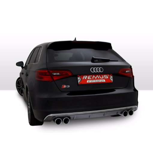 remus turboback exhaust audi 8v s3
