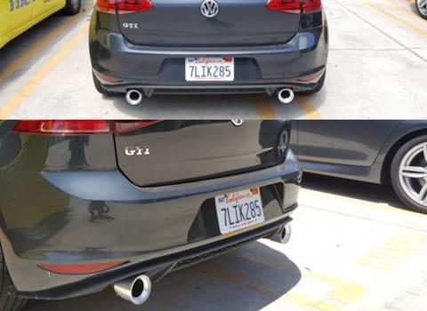 Burger Motorsports Billet Exhaust Tips - VW Golf Mk7 GTI