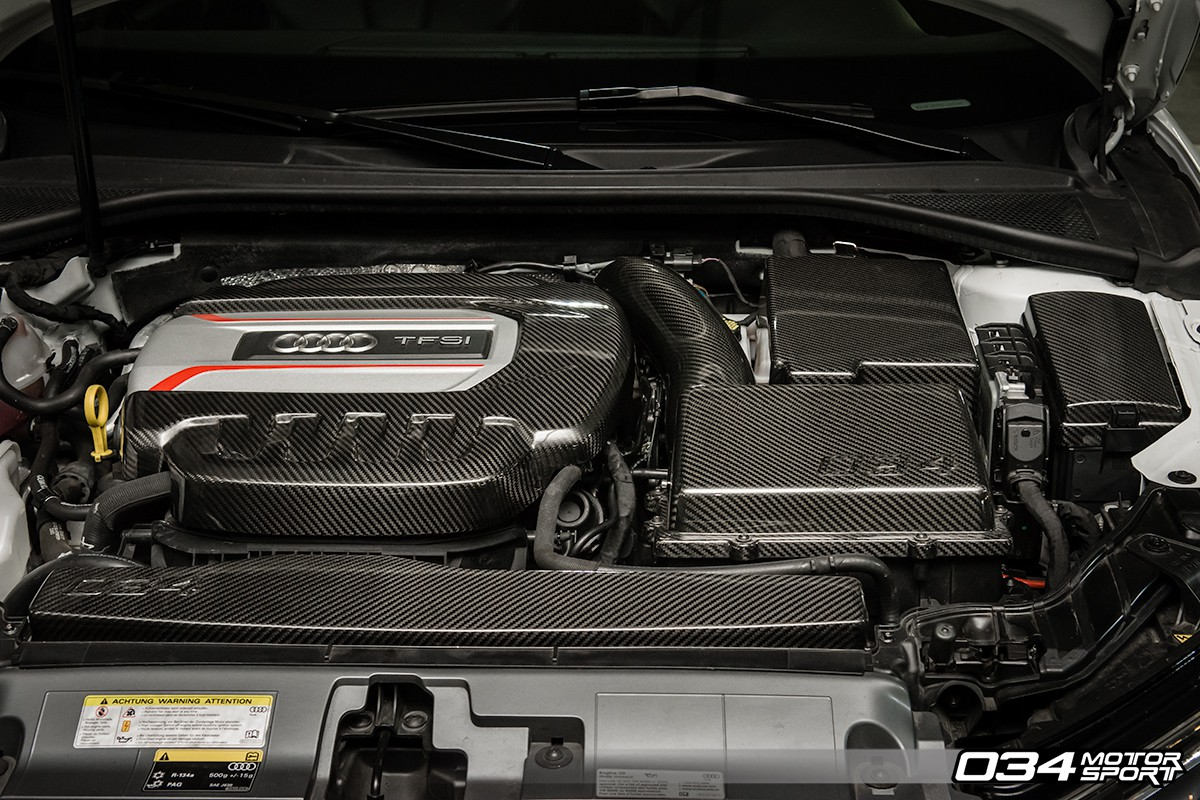 034 motorsport audi 8v s3 carbon fibre engine cover