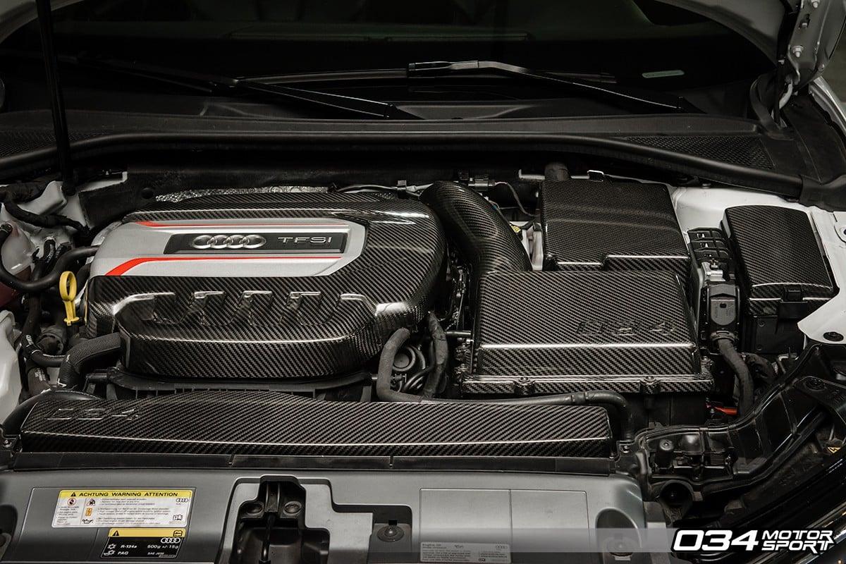 034 Motorsport Audi 8V S3 Carbon Fibre Engine Cover Package