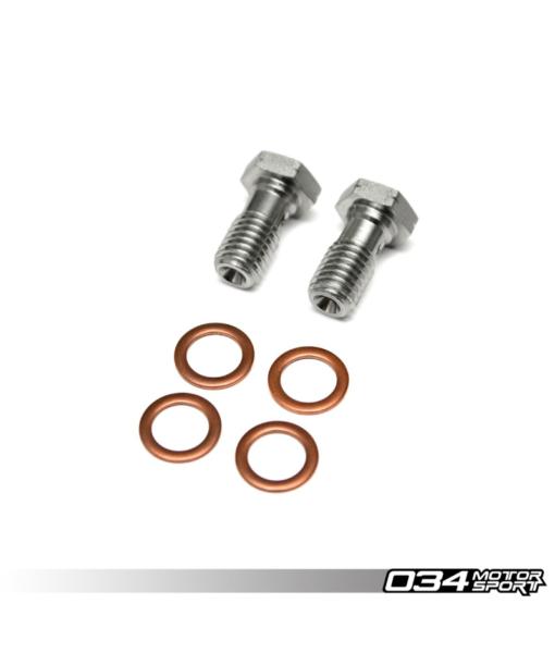 034 Motorsport Stainless Steel Braided Brake Line Kit - 8V Audi S3 / MK7 Golf R