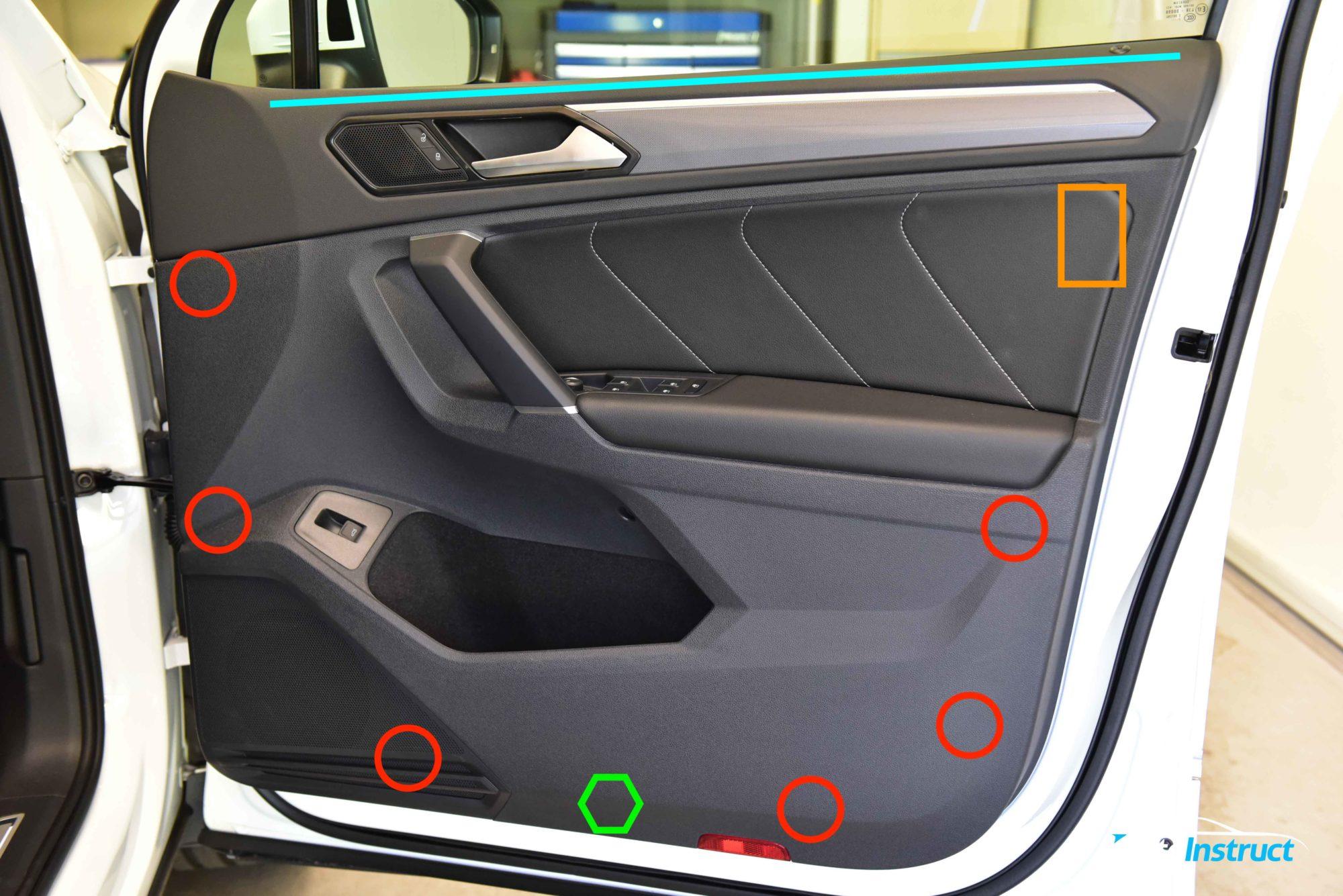 Front Door Trim Removal – Volkswagen MK2 Tiguan – AutoInstruct