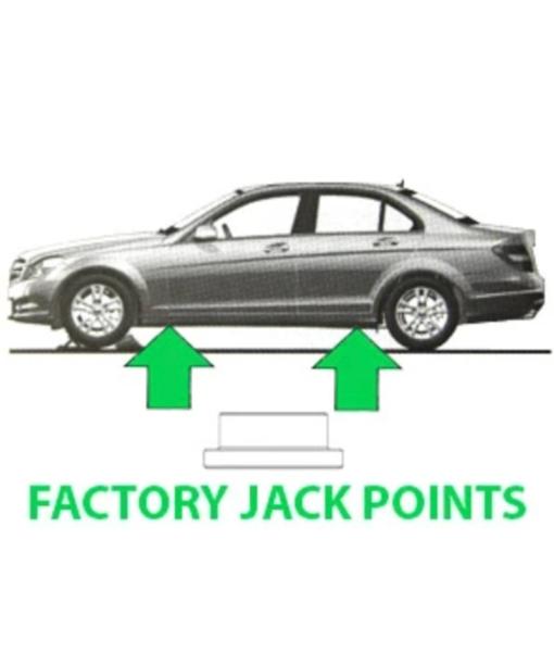Burger Motorsports Jack Pad Adapter - Mercedes Benz