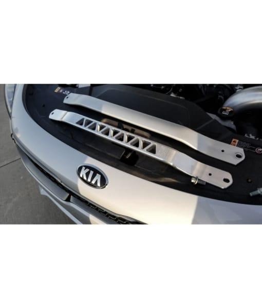 Burger Motorsports Kia Stinger Billet Strut Cross Braces Installed